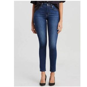 Levi 721 dark blue skinny jeans